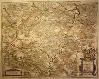 Kupferstichkarte von Jansson Territoriumabbatiae Heresfeldensis 1645  sf