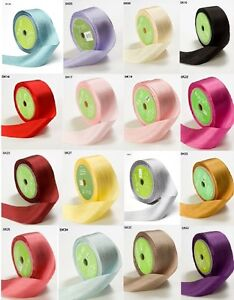 May Arts 100% Pure Silk 32mm Ribbon - sold by the metre