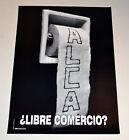 Political OSPAAAL Solidarity Cuban Original POSTER.ALCA.World trade toilet.WTO