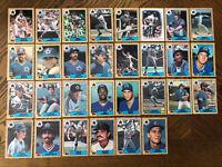 1987 SEATTLE MARINERS Topps COMPLETE MLB Team SET 30 Cards REYNOLDS TARTABULL RC