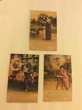 With All Your Faults Set of 3 Bamforth Edwardian Era Postcards