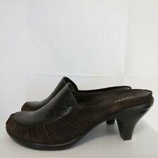 Rockport Truflex Women's 9M Mules Leather Embossed Paisley