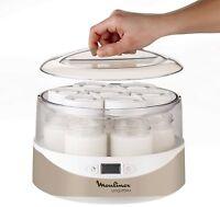 Moulinex Yogurtera pantalla digital 7 tarrinas de cristal de 160 ml automática