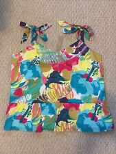 J Crew New Tall tie-shoulder peplum top in seaside floral Blouse Size 14T G5277