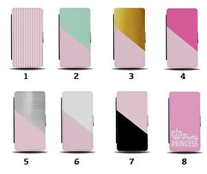 Baby Pink Flip Wallet Case Coloured Green Gold Silver White Princess 8125b