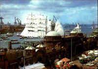 HAMBURG Hafen Schiff Ship Schulschiff Segelschiff GORCH FOCK Sailing Ship color