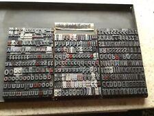 More details for letterpress metal type, 48pt gill sans bold condensed 343