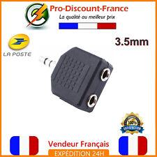 Adaptateur Audio Casque Jack 3.5mm Splitter Y Coupleur Ecouteur Stereo 3.5