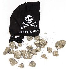 Pirates Gold in Black Skull Bag - Iron Pyrite (Fools Gold)  party bag gift boy