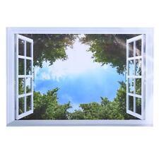 3D Green Tree Blue Sky Removable Wall Vinyl Art Stickers Vinyl Mural Home Decor