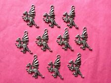 Tibetan Silver Winged Dragon Charm 10 per pack