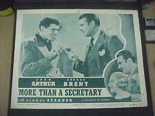 MORE THAN A SECRETARY, reis 1947 LC [George Brent, Lionel Stander, Jean Arthur]