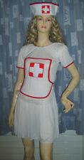 Ladies Sexy Nurse Fancy Dress Costume Uniform S 8-12 USED