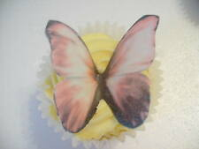 12 Color Rosa Y Negro Comestibles wafer/rice De Papel Mariposas cake/cupcake Toppers