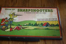 EXTREMELY RARE VINTAGE GAME OF SHARPSHOOTERS WITH 36 SOLDIERS MILTON BRADLEY