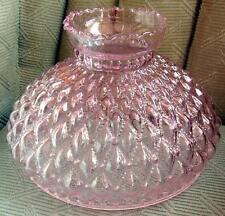 """10"""" Glass Shade oil kerosene lamp student   PINK DQ"""