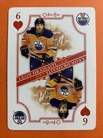 2019-20 O-Pee-Chee Playing Card 6 Of Hearts Leon Draisaitl Edmonton Oilers