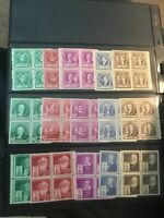 #859-893..FAMOUS AMERICANS..BLOCKS OF 4(complete set)..MNH..F/VF.  REF#RB