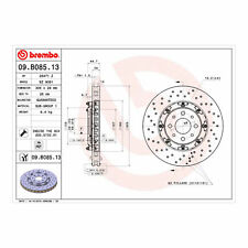 BREMBO Drilled Floating Brake Disc 09.B085.13
