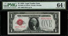 "1928 $1 Legal Tender FR-1500 - ""Red Seal"" - PMG 64 EPQ - Choice Uncirculated"