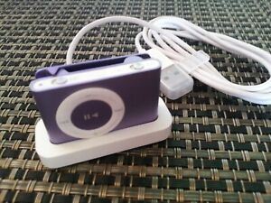 Apple iPod shuffle 2nd Generation Purple (1 GB) A1204 with Charging / Sync Dock