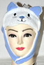 Minky Accessories Soft Minky Lined Blue Kitty Cat Animal Kids Hat