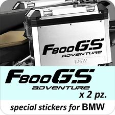 2 Adesivi Stickers BMW F 800 gs valigie adventure R GS