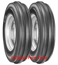 Pair 6.00-16 / 600-16 / 600x16 3 rib tyres for classic/modern 2WD tractors