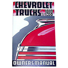 1938 Chevrolet Pickup Truck Owners Manual