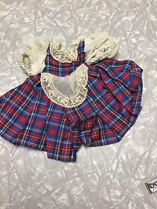 Vintage Doll Dress Ideal Vogue Bisque Mattel Toni Shirley Sweet Sue Plaid