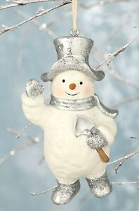 "Bethany Lowe SNOWMAN Ornament with shovel 4"" KL8008"