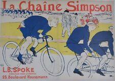 Henri de Toulouse - Lautrec, La Chaine Simpson, 1896, The Simpson Chain. Large.