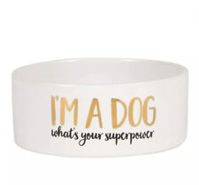 Dog Water Food Bowl - ''I'm A Dog What's Your Superpower'' - Sass & Belle  -