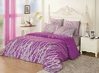 PURPLE TREE Sheet Set Double/Queen/King Size Bed Flat&Fitted&Pillowcases Cotton