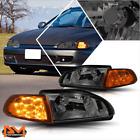For 92-95 Honda Civic 23-door Led Turn Signal Headlightslamps Tinted Housing