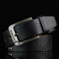 Classic Men's Leather Belt Casual Pin Buckle Waist Belt Waistband Belts Strap BL