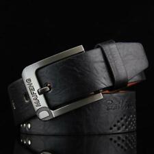 Classic Men's Leather Belt Casual Pin Buckle Waist Belt Waistband Belts Strap BL