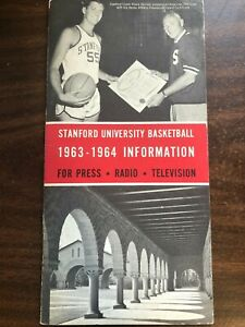 COLLEGE BASKETBALL STANFORD UNIVERSITY INFORMATION GUIDE 1963-64 EXCELLENT CON
