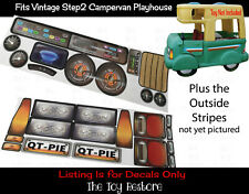 Pièce de Rechange Autocollants Décalques Pour Step2 Vintage Campervan Cabane