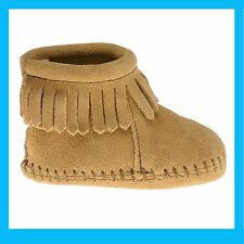 CHAUSSONS MINNETONKA FRANGES TAUPE  TAILLE 24-25  US 6  NEUFS AVEC BOITE VAL 45€