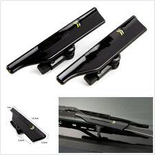 2 Pcs Black Car Vehicle Windshield Wiper Blade Spoiler Protector Wings ABS+Metal