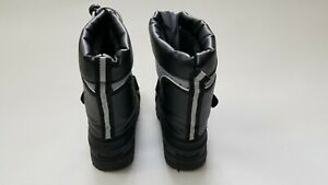 Koala Kids Boys Toddler Black/Gray Rubber Insulated Snow Boots Size 7
