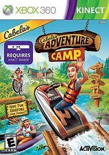 CABELAS ADVENTURE CAMP XBOX 360 KINECT NEW! BEAR HUNT, SKEET SHOOT FISHING KAYAK