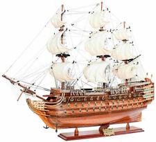 Luxus Flaggschiff HMS Victory mit Ständer Braun 89 cm - Modellschiff Modellboot
