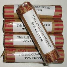 LINCOLN PENNIES - 5 ROLLS - 250 COINS - 95% COPPER - ALL COINS 1982 AND PRIOR