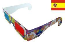 2x pares Gafas 3D - Rojo azul lentes anaglificas - red blue glasses 146
