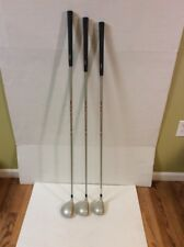 Wilson Dyna Power II Ladies Woods Set 1,3,5 RH Golf Clubs  Nice Preowned