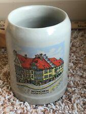 Hofbrauhaus Munchen 0.5L Gerz W. Germany Beer Stein Blue Salt Glazed Stoneware