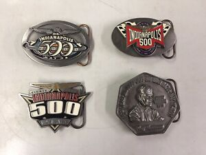 Indy racing LOT 1999 2000 2001 2002 Indianapolis PEWTER BELT BUCKLES #107 of 500
