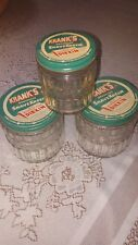 Set of 3 Krank's Shaving Cream Jars with Metal Lids